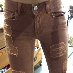 American Eagle Outfitters Jeans - Rust colored ripped jeans